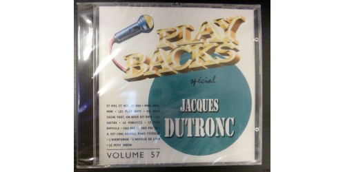 CD PLAYBACKS JACQUES DUTRONC