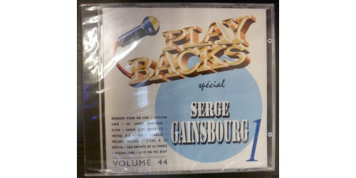 CD PLAYBACKS SERGE GAINSBOURG
