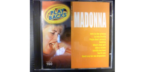 CD PLAYBACKS MADONNA