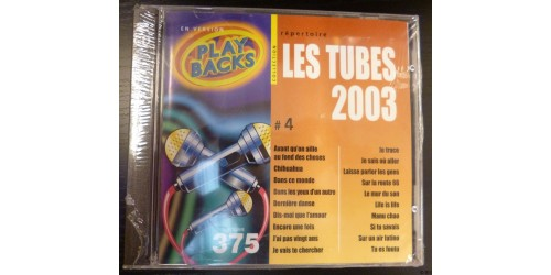 CD PLAYBACKS LES TUBES 2003