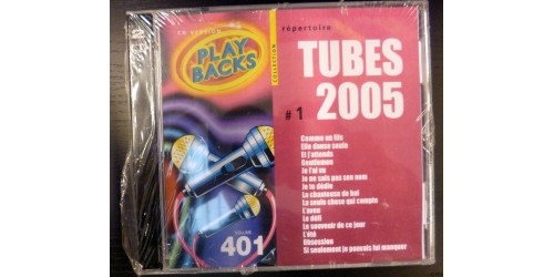 CD PLAYBACKS LES TUBES 2005